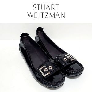 Stuart Weitzman Black Patent Loafers Size 9